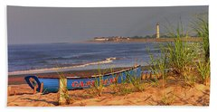 Cape May Beach Bath Towel by Nick Zelinsky
