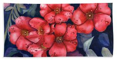 Dew Flowers Bath Towel