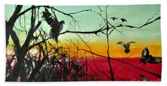 Doves At The Dawn Hand Towel