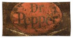 Dr Pepper Vintage Sign Bath Towel