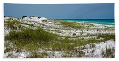 Hand Towel featuring the photograph  Dunes    Panama City Beach  by Susan  McMenamin