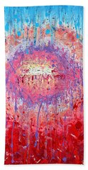Rich Texture Abstract Painting Bath Towel