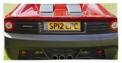 Hand Towel featuring the photograph  Ferrari Sp12 Ec by Maj Seda