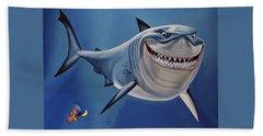 Finding Nemo Painting Bath Towel
