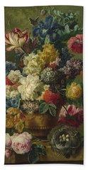 Flowers In A Vase Hand Towel