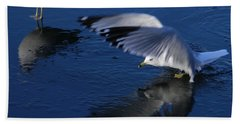 Landing On Icy Water Hand Towel by Emmy Marie Vickers