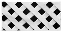 Lattice Fence Pattern Bath Towel