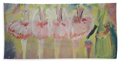 Bath Towel featuring the painting  Madams Quadrille Ballet  by Judith Desrosiers