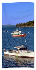 Maine Lobster Boat Hand Towel