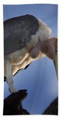 Maribou Stork Hand Towel