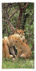Masai Mara Lion Cubs Bath Towel