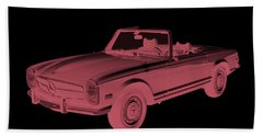 Mercedes Benz 280 Sl Convertible Modern Art Bath Towel