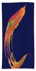 Hand Towel featuring the digital art  Night Phoenix by Stephanie Grant