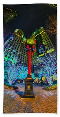 Bath Towel featuring the photograph  Nightlife Around Charlotte During Christmas by Alex Grichenko