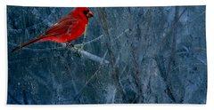 Northern Cardinal Bath Towel