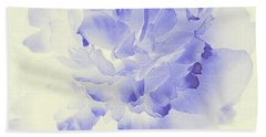 Paeony - Shadow In Blue Bath Towel by Stephanie Grant