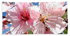 Peach Blossom Hand Towel by Clare Bevan