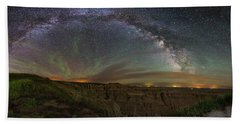 Pinnacles Overlook At Night Hand Towel