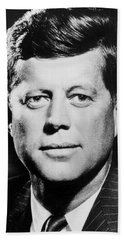 Portrait Of John F. Kennedy  Hand Towel