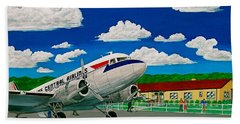 Portsmouth Ohio Airport And Lake Central Airlines Hand Towel