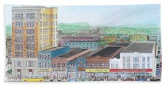 Portsmouth Ohio Dime Store Row 4th To 5th Bath Towel by Frank Hunter