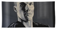 Robert Enke Hand Towel by Paul Meijering