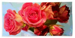 Bath Towel featuring the photograph  Roses 4 Lovers  by Rogerio Mariani