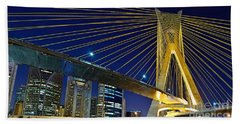 Sao Paulo's Iconic Cable-stayed Bridge  Bath Towel