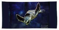Hand Towel featuring the photograph  Sea Turtle by Savannah Gibbs