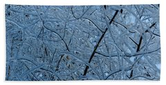 Vegetation After Ice Storm  Bath Towel by Daniel Reed
