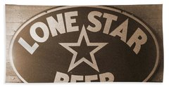 Vintage Sign Lone Star Beer Bath Towel