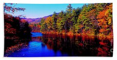 White Mountians National Park Red Eagle Pond New Hampshire Bath Towel