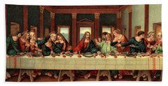 0030s The Last Supper After Leonardo Da Hand Towel