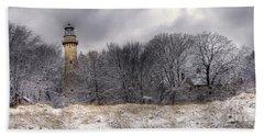 0243 Grosse Point Lighthouse Evanston Illinois Hand Towel