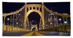 0304 Roberto Clemente Bridge Pittsburgh Hand Towel