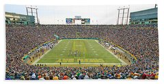 0349 Lambeau Field Panoramic Bath Towel
