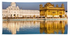 Golden Temple In Amritsar - Punjab - India Hand Towel