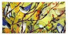 16 Birds Bath Towel