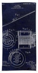 1906 Fishing Reel Patent Hand Towel by Jon Neidert