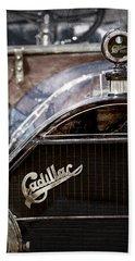 1911 Cadillac Roadster Hood Ornament - Grille Emblem Hand Towel