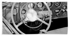 1937 Cord Sc Cabriolet Steering Wheel Bath Towel