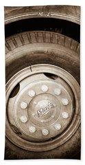 1952 L Model Mack Pumper Fire Truck Wheel Emblem Bath Towel