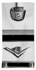 1954 Ford F-100 Custom Pickup Truck Emblems Bath Towel