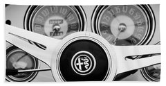 1955 Alfa-romeo 1900 Css Ghia Aigle Cabriolet Steering Wheel Bath Towel