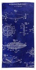 1962 Animated Fish Lure Blue Bath Towel