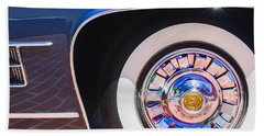 Bath Towel featuring the photograph 1962 Ghia L6.5 Coupe Wheel Emblem by Jill Reger