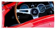 1965 Shelby Ac Cobra Roadster 289 Steering Wheel Emblem Bath Towel