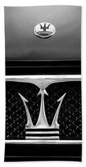 1967 Maserati Ghibli Grille Emblem Bath Towel