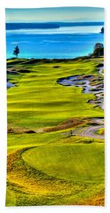 #5 At Chambers Bay Golf Course - Location Of The 2015 U.s. Open Tournament Bath Towel by David Patterson