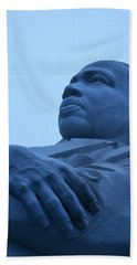 Hand Towel featuring the photograph A Blue Martin Luther King - 1 by Cora Wandel
